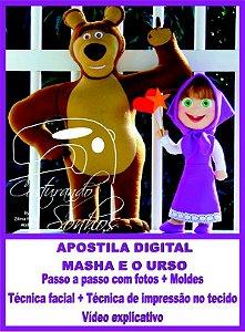 """Apostila Digital de Moldes """"Menina e o Urso"""""""