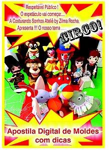 """Apostila Digital de Moldes """"Circo"""""""