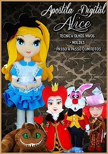 "APOSTILA DIGITAL DE MOLDES TEMA ""ALICE"""
