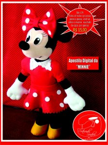 "APOSTILA DIGITAL DE MOLDES TEMA ""MINNIE"""