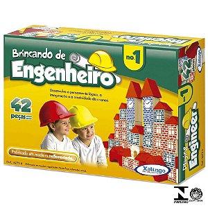 BRINCANDO DE ENGENHEIRO N1 42 PEÇAS