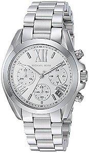 c1fd53f71382b Relógio Michael Kors Mk6099 Prata Dial Azul - New Store - A melhor ...