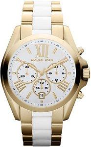 4b38e72b38969 Relógio Michael Kors Mk5976 Misto Dourado E Prata Original - New ...