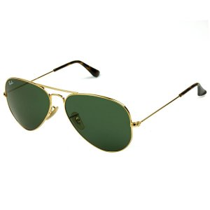 b7e29f519abc7 Óculos de Sol Ray Ban Aviador RB3025 Dourado Lente Preta - New Store ...