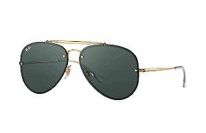 Óculos De Sol Ray Ban RB3584-N 153 Blaze Aviador Preto Lente Preta ... 27ecc14880