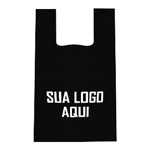 SACOLA DE PLÁSTICO ALÇA CAMISETA XGRANDE- 40x50x0,005 (AlturaxLarguraxDensidade)