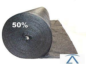 Sombrite Tela De Sombreamento preta 50% 1,5 x 50
