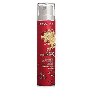 Spray Chinês - Gel aromatizado que Vibra, Esquenta e Esfria - 15g