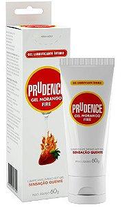 Lubrificante Prudence Gel Fire Morango - 60g