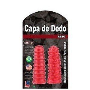 Capa de Dedo Reto Vermelha - 8 x 3cm - KToy