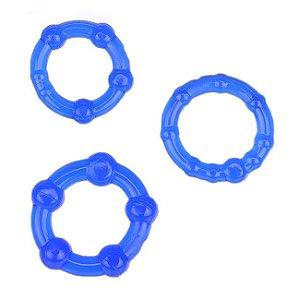 Kit com 3 Anéis Penianos - Tipo 1 - Azul