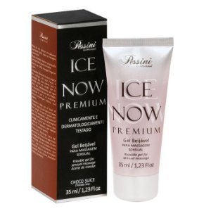 ICE NOW PREMIUM CHOCO SUICE - Gel térmico beijável sabor chocolate suíço 35ml - Pessini
