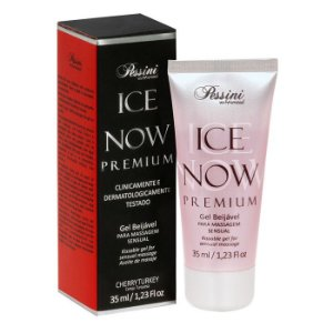 ICE NOW PREMIUM CHERRY TURKEY - Gel térmico beijável sabor chocolate cereja 35ml - Pessini
