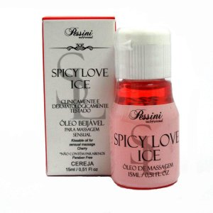 Óleo Beijável Spicy Love Ice Cereja 15ml Pessini