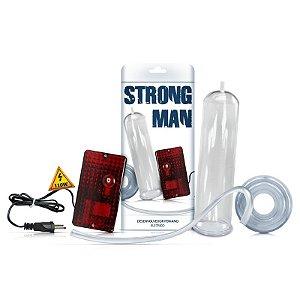 Bomba Peniana Elétrica 110W -  Transparente - Strong Man - Sexy Fantasy