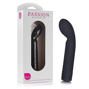 Vibrador Feminino Passion em Silicone 13 cm - Preto