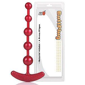 Plug Pure Anal Beads 18cm - Vermelho