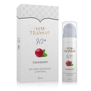 VEM TRANSAR H2O - Gel Lubrificante a base d´água - Cranberry - 15ml