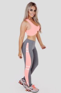 Legging Slim Com Lateral