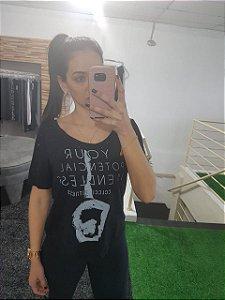Blusa Estampado - Preto - COLCCI