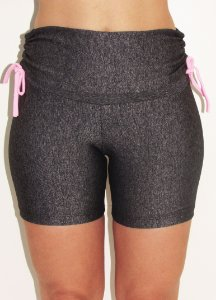 Short Meia Coxa Franzido nas Laterais - Cinza/Mescla People Fit - M