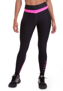Legging Zoom Preto/Rosa M - AUTHEN
