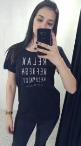 Camiseta Estampada Preto 345700090 - Colcci