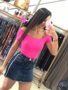 Blusa c/ Bojo Ombro Rosa Pink