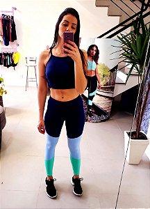 Legging Tricolor Azul