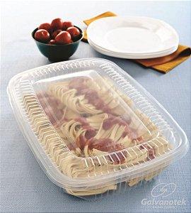 Embalagem pote para freezer e microondas caixa com 100 unidades 1600ml - G300 - Galvanotek