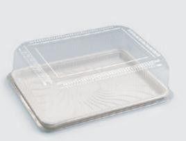 Embalagem para bolo / torta grande retangular - Sanpack S70 - pacote com 10 unidades