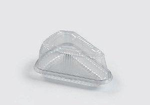 Embalagem PET  Fatia de torta - Sanpack S630 - pacote com 10 unidades