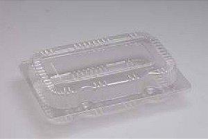 Embalagem PET Retangular - Sanpack S08 - caixa com 100 unidades