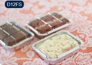 Bandeja D12 FS - 220ML - Microondas / Forno / Freezer - WYDA - com tampa PET - pacote com 10 unidades