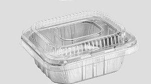 Bandeja SW515 - 515ML - Microondas / Forno / Freezer - WYDA - com tampa PET - caixa com 25 unidades
