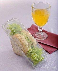 Embalagem descartável para sanduiche caixa com 100 unidades - G560 - Galvanotek