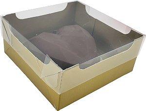 Caixa encanto coração lapidado 200g cor de ouro pacote com 10 - Ideia