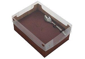 Caixa encanto eco pacote com 10 - 250g - cor vinho - Ideia