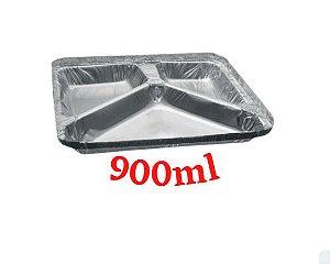 Bandeja 3 divisórias caixa com 100 - 900ml - Bricoflex