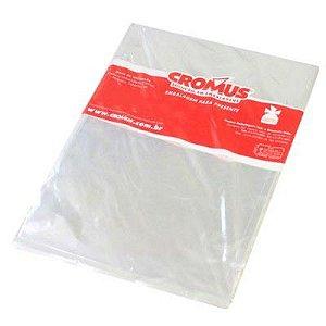 Saco transparente - 45x59 incolor - pacote com 25 - Cromus