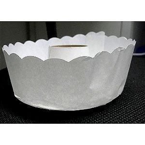 Forma para bolo suíço branca pacote com 50 - 1000g - Petropel