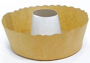 Forma para bolo suíço kraft pacote com 100 - 1000g - Petropel