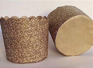 Forma para panetone 100g decorada pacote com 100 - Petropel