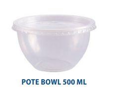 Pote bowl com tampa - pacote com 20 unidades - Ref 8494 - 500ml - Prafesta
