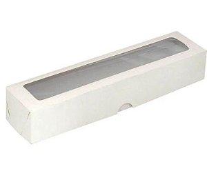 Caixa com visor s13 branca pacote com 10 (5,5X23X04) - ASSK
