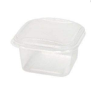 Pote quadrado para freezer/microondas 150ml - pacote com 10 unidades - G375 - Galvanotek