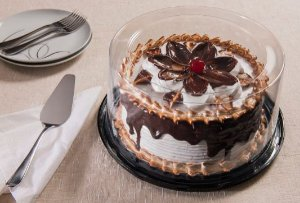 Embalagem torta preta média caixa com 50 unidades - 2,2kg - G56 CTA - Galvanotek