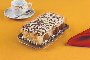 Embalagem preta torta bolo 200g pacote com 10 unidades - G62S - Galvanotek