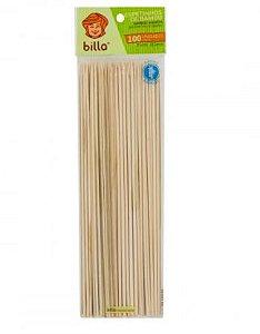 Espeto de bambu 18cm caixa com 100 pacotes contendo 100 unidades - Billa