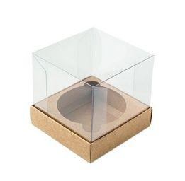 Caixa para mini bolo kraft pacote com 10 - G 08X08X08 - Assk